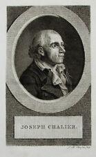 c1800 Chalier Joseph Französische Revolution Kupferstich-Porträt Claessens