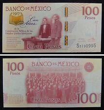 Mexico Commemorative Banknote 100 Pesos 2017 UNC, Centennial of Constitution