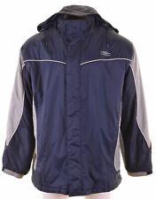 UMBRO Mens Windbreaker Jacket Size 42 XL Blue Nylon  LP02