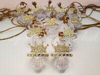 12 Prince Pacifier Necklace Baby Shower Favor Prize Game Boy Decoration Recuerdo