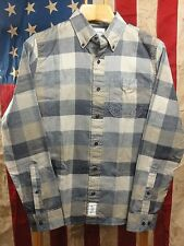 Abercrombie & Fitch Muscle Mens Plaid Sleeve Button Front Shirt Small (B428)