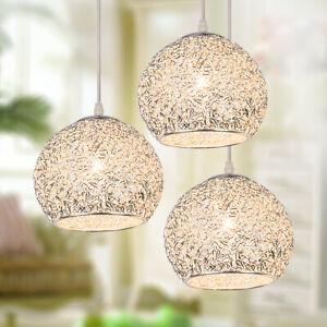Silver Pendant Lights Modern Ceiling Lamp Home Light Kitchen Chandelier Lighting