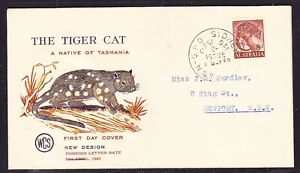 """Australia """"WCS""""  1960  - 8d Tiger Cat First Day Cover - Sydney to Newport"""