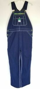 Liberty Overalls Men's Bib Blue 48 X 28 Coveralls Bib Pockets Denim Work