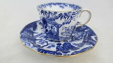 Royal Crown Derby, Cup Saucer, Blue and White, Mikado design ,Dated 1936