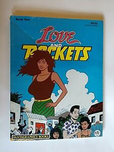 LOVE AND ROCKETS BOOK TWO LOS BROTHERS HERNANDEZ FANTAGRAPHICS BOOKS 1986