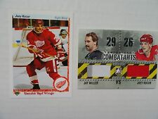 Joey Kocur Jay Miller 2011/12 Combatants Game Jersey Card + Free Kocur UD RC