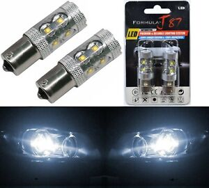 LED Light 50W 1156 White 5000K Two Bulbs Rear Turn Signal Replacement Stock JDM