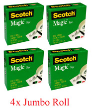 Scotch Magic Tape 810 Jumbo Roll 19mm x 38.1m Invisible Tape 2/4/6/8/10