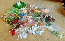 Large Lot of Artificial Flowers Leaves Berries for Crafting Crafts