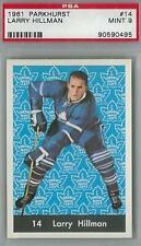 1961 Parkhurst Hockey #14 Larry Hillman PSA 9 (Mint) *0495