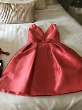 COAST RILEY DRESS IN CORAL SIZE 06 NEW RRP £135.00