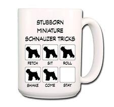 Miniature Schnauzer Stubborn Tricks Extra Large 15oz Coffee Mug