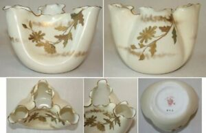 American Belleek OTT & BREWER Hand-Decorated Bowl