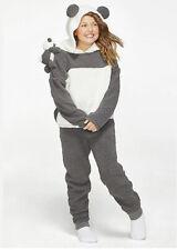 Justice Girls Size 10 Panda Pajama Set Sleepover Plush Pajamas New 💜💜