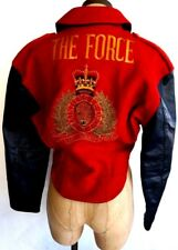 VTG Looking Forward The Force red mounted police button down jacket men fits M