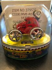 Mini Micro RC CRAZY CAR Stunt Vehicle Red NOS