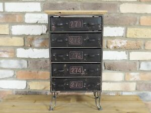 Vintage Industrial Cabinet with 5 Drawers Retro style Storage Chest