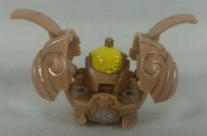 Bakugan Subterra Clayf 700g Tan/Gold/Yellow Pops Open Nicely! See Pics!