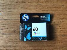 Authentic HP 60 Tri-Color Ink Cartridge Sealed Genuine