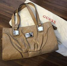 Beige Bag Guess Patent Shine Handbag