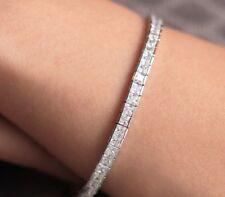 10 Ctw Princess Cut Tennis Bracelet 14K White Gold Over Sterling Silver 7.25''