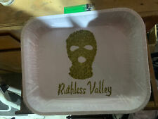 Large Metal Rolling Tray with FREE rolling Papers