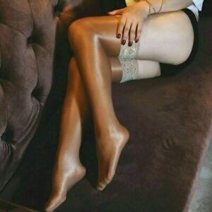 Women's Hold Up 70D Hosiery Nylon Stockings  High Shiny Glossy Tights Thigh High