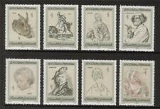 Austria 1969 MNH sg1559-1566 BICENTENARIO DELL' ALBERTINA ART COLLECTION Set di 8