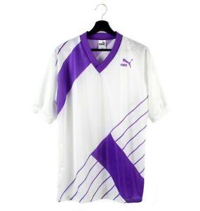 80s PUMA vintage t-shirt jersey V-neck OG rare tee tshirt West Germany L men