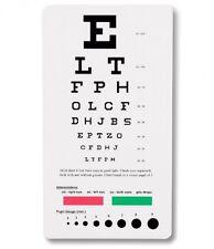 Prestige Medical 3909 Snellen Pocket Eye Chart