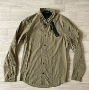 Stone Island Shadow Project Shirt Top Khaki Small NEW Button Front Over Shirt