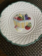 Fitz and Floyd Omnibus 1995 Plate Harvest Vegetable Weave Scalloped Plate