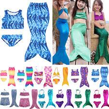New Kids Girls Mermaid Tail Bikini Swimwear Beach Bathing Swimsuit Suits 2/3PCS