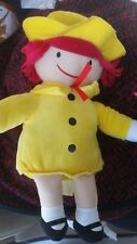 Nwt Yellow Madeline Plush Doll Wearing Yellow Coat & Hat