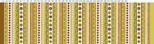 Green Stripe - Spice Garden By Sue Zipkin for Clothworks Fabrics HALF YARD