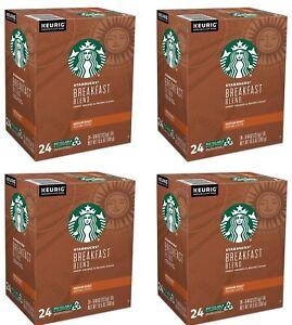 Starbucks Breakfast Blend K-Cups Keurig Medium Roast Coffee 96 Count BBD 10/2020