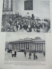 ANTIQUE PRINT 1926 STOCK EXCHANGE INTERIOR NEW YORK EXTERIOR PARIS BOURSE PHOTO