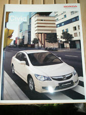 Honda Civic Hybrid brochure Aug 2009 Irish market