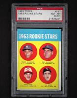 ⚾ 1963 TOPPS #537 PETE ROSE PSA 8 NM-MT Sharp Rookie Card Just 1% Graded Higher!