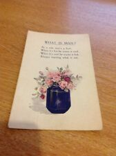 Postcard Unused Vintage What Is A Man Alphalsa Poem