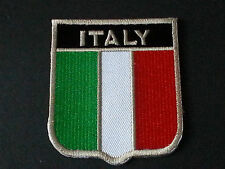 BACKPACKERS NATIONAL COUNTRY SHIELD FLAG SEW/IRON ON PATCH:- ITALY