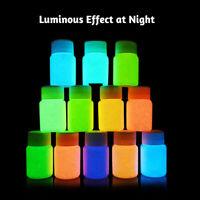 KQ_ 20g 12 Colors Glow in Dark Luminous Paint Pigment Handmade Painting Tool Eff