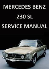 MERCEDES BENZ WORKSHOP MANUAL: W113 230SL 1959-1966