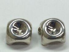 Inger K Modernist 925 Sterling Silver Clip On Earrings
