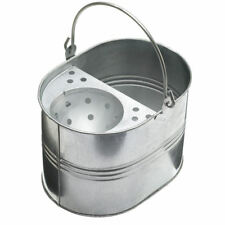More details for high quality - 14l heavy duty metal bucket & mop galvanised strong for cleaning
