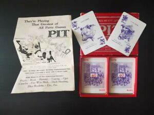 Vintage PIT Card Game Bull And Bear Edition Copyright Boxed 7 Suits, Rules