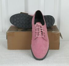 Vintage Reebok BOKS Size 8 M Pink Suede Leather Festivity Lace Up Oxford Shoes