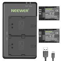 Neewer 2 pcs Battery Replacement for Canon LP-E6 LP-E6N and Charger for Canon