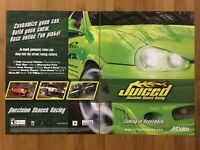Juiced PS2 Xbox PC 2005 Vintage Game Poster Ad Art Print Official Promo Racing